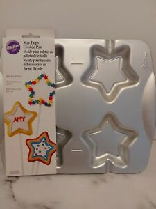 Wilton baking tins star lolly pop making tin new