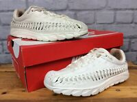 NIKE LADIES UK 5 EU 38.5 NEUTRAL CREAM MAYFLY WOVEN SUEDE TRAINERS RRP £95 LG