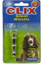 Clix Silent Whistle With Training Guide Ideal for Noise Sensitive Breeds