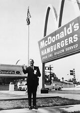 Art print POSTER / Canvas Ray Kroc Standing Outside McDonald's