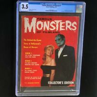 Famous Monsters of Filmland #1 (1958) 💥 CGC 3.5 💥 Frankenstein Warren Magazine