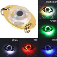 LED Deep Drop Underwater Eye Shape Fishing Attract Lure Light-up Flashing Lamp
