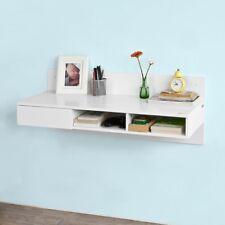 SoBuy® Bureau informatique Table murale Table de cuisine,1 tiroir, FWT30-W,FR