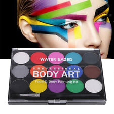 Face & Body Painting Pressed Powder Palettes Set 15 Colours Face Art Make Up Kit