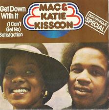 DISCO 45 giri  MAC & KATIE KISSOON - GET DOWN WITH IT //  WALKING AROUND