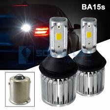 2x BA15s 1156 LED Bulbs COB 30W Extremely Bright Back Up Reverse Light 6K White