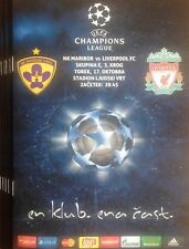 2017 NK MARIBOR v LIVERPOOL CHAMPIONS LEAGUE PROGRAMME FROM GROUND