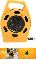 Extension Cord Reel 4 Built-in Grounded Outlets 10 AMP Circuit Breaker Safe Tool