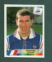 PANINI WORLD CUP 1998 ZINEDINE ZIDANE STICKER NO 164