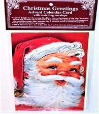 Rare! SANTA CHRISTMAS ADVENT CALENDAR CARD Mint/Sealed Shackman We ship INTL