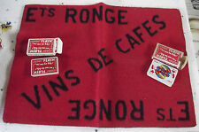 Play mat more advertising playing cards ronge wines cafe