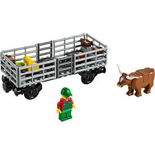 Lego train City Cargo Freight vache bovins wagon railway ville set de 60052-neuf