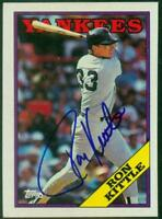 Original Autograph of Ron Kittle of the NY Yankees on a 1988 Topps Card