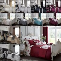 Duvet sets Decorated Print Luxury Matching Curtains Cushion covers & Door Panels