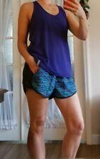 Set Lot Under Armour Women Fly-by Printed Running Shorts purple shirt Black L XL