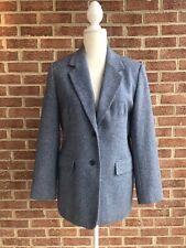 Orvis Vintage USA Made Women's Tweed Blazer Jacket Wool Silk Two Pocket Size 8P