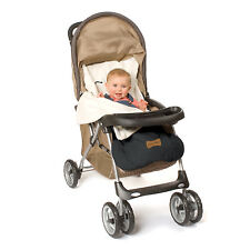 Stroller Blanket or Stroller Cover & Baby Bunting Bag Standard Black Embroidered