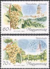 Hungary 2001 Wine Making/Alcohol/Drink/Grapes/Plants/Buildings 2v set (n45540)
