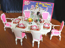 New Fancy Life Doll House Furniture Size Grand Dining Room Playset For Dolls