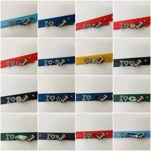 I love NFL football rhinestone bracelet team color NFL PICK YOUR TEAM /NFL fan