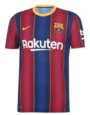 FC BARCELONA Mens Blue & Red 2020/21 Nike VAPOR Home Football Shirt Medium BNWT