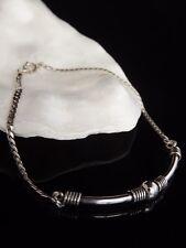 Sterling Silver 925 Jewellery Ladies Bar Curb Chain Link 8'' Balinese Bracelet