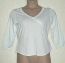 14-22 Womens Button Detail 3//4 Sleeve Top Ladies Round Neck Ivory Pintuck Top
