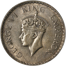 India 1941 1 Rupee KM #556 XF