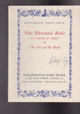 Marlborough Rare Books Catalogue 54 Fine Illustrated Books