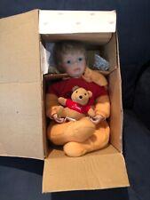 The Ashton Drake Galleries '01 Porcelain Pooh Doll Brand New in Original Box Coa