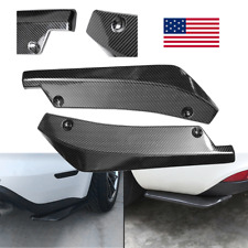 Universal Rear Bumper Lip Diffuser Splitter Canard Protector Carbon Fiber 2X US