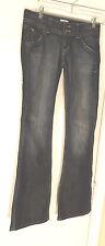 Hudson Womens Jeans 26x34 Blue dark wash Bootcut 98% cotton 2% Elastane solid