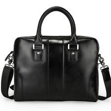 """Real Leather Briefcase For Men 14"""" Laptop Messenger Shoulder Bag Satchel Attache"""
