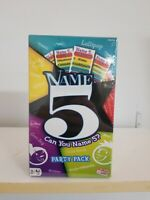 Can you Name 5? Party Pack Card Game. Brand New in Orginal Unopened Packaging!