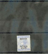 India(Patiala) Sc O10(Sg O10)*Vf Nh 1898 2a Dull Blue, Official $28