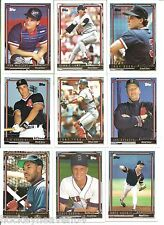 Red Sox Team Lot of 1992 Topps Gold Winner Baseball Cards 19 count