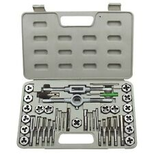 HD PRO GRADE 40pc Tap & Die Set SAE Cutting Create Threads Screws Metal Tools