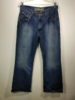 Arizona Jean Co. Men's Distressed Dark Wash Sneaker Fit Size 34 X 30 Jeans