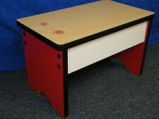 Kitchen Step Stool Bench - Very sturdy Made & shipped in USA, Bathroom Shop Seat