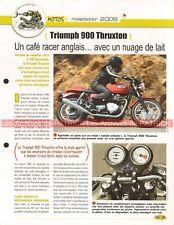 TRIUMPH 900 Thruxton 2009 Joe Bar Team Fiche Moto #007730