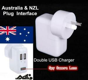 AUS Plug - 32GB 1080P USB Wall Charger Safety Motion Nanny Camera Power Adapter