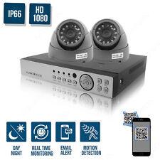 CCTV 4CH 1080P 2.4MP DVR Record IR-CUT Home Security Camera System Kit 2 Camera