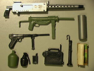 "Military VINTAGE 1960's Lot of 10 Parts & Weapons C-6 Remco Action Man 12"" GIJoe"