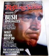 Rolling Stone Magazine  January 22, 2009 George W. Bush Robin Williams Excellent