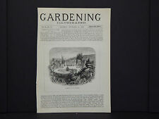 Gardening Illustrated Cover c1870s/1880s English #29 A Garden In Lake Maggiore