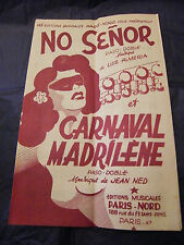 Partition No senor Luis Alméria Carnaval Madrilène Music Sheet