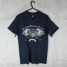 Harley Davidson Fashion Blue Casual Biker T Shirt Top Size S