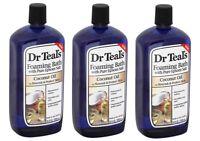 Dr. Teal's Foaming Epsom Salt Bath, Coconut Oil, 34 oz (Pack of 3)