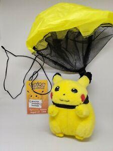 """Pikachu """"Topikachu"""" Kansas 1998 Parachute Pokemon Plush Tomy Pikachu! 1/750 RARE"""