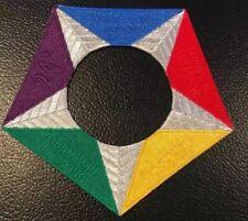 2019 World Scout Jamboree United States US Contingent Pentagram Back Patch Set .